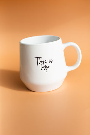 Load image into Gallery viewer, *Imperfect* There is hope rainbow mug - White