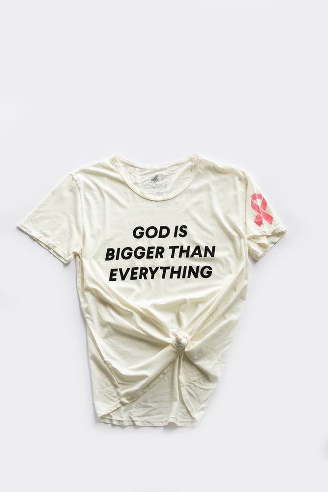 Load image into Gallery viewer, God is bigger than everything Unisex Crewneck Tee -  Cloud