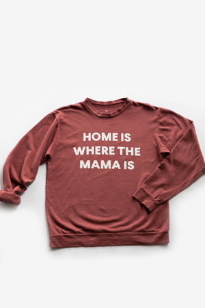 Load image into Gallery viewer, Home is where the mama is Adult Sweatshirt