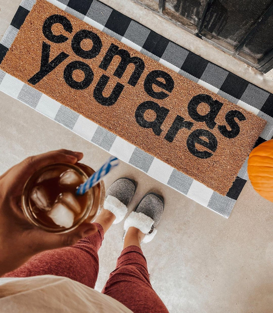 Load image into Gallery viewer, XL Doormat - Come as you are