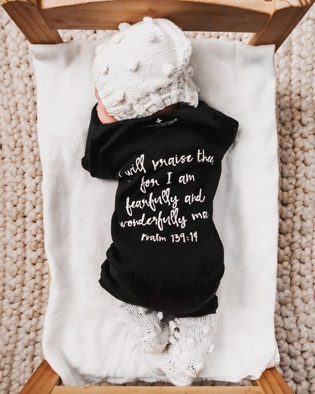 Organic Button Coverall -  Psalm 139:14 1