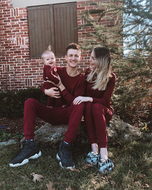 Load image into Gallery viewer, Men's Organic Pajama Set  -  MAROON
