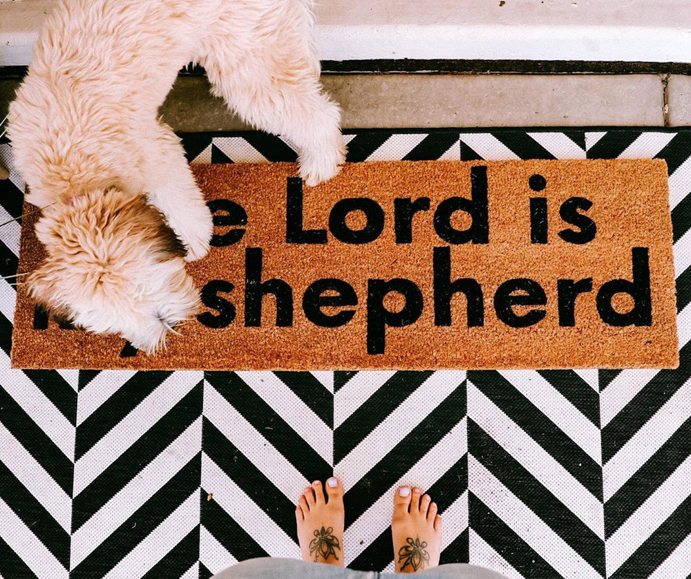 Load image into Gallery viewer, XL Scripture Doormat | The Lord is my shepherd