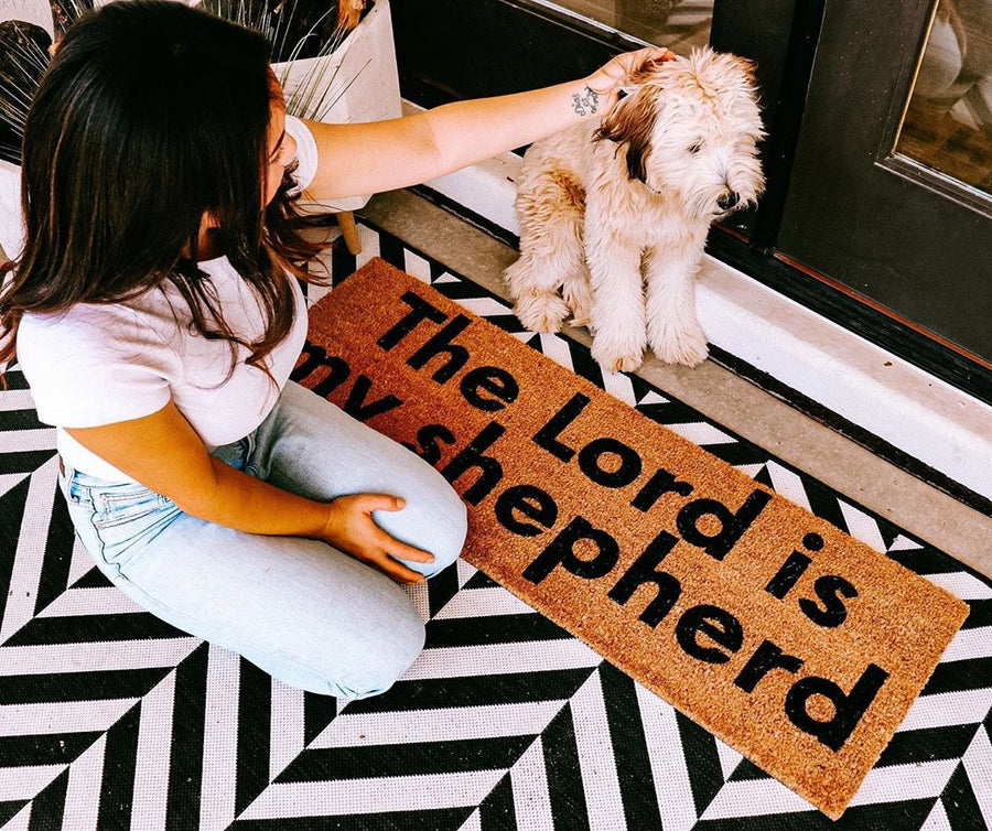 XL Scripture Doormat | The Lord is my shepherd