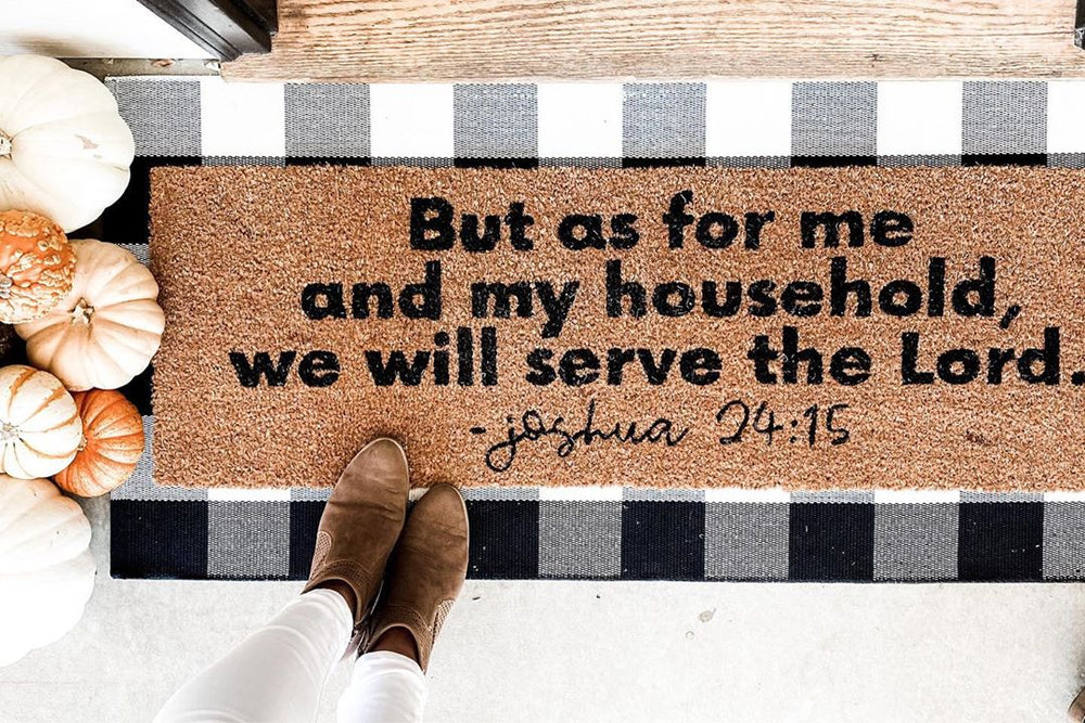 Load image into Gallery viewer, XL Scripture Doormat | Joshua 24:15