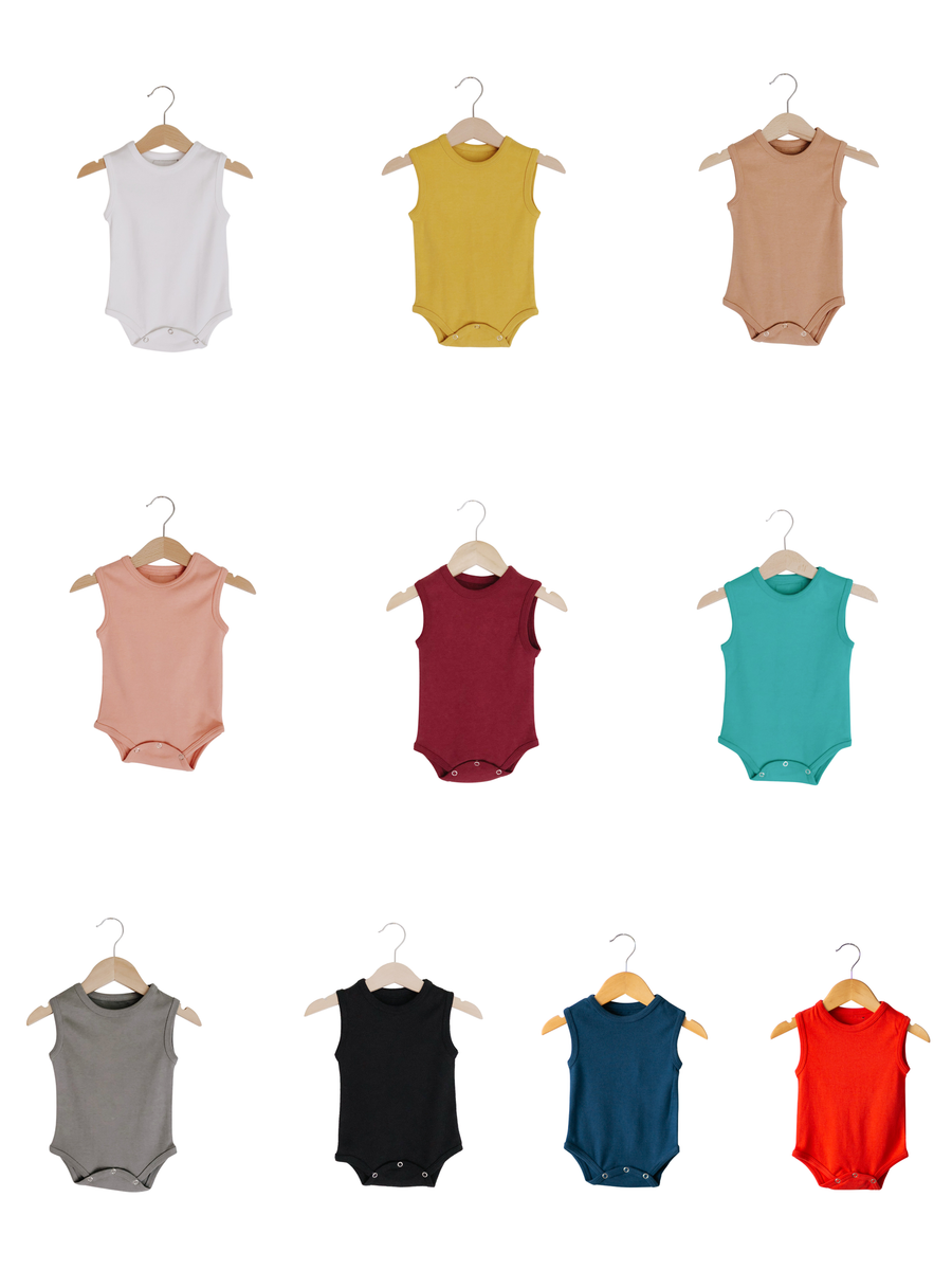 Organic Tank Bodysuit -  Colors