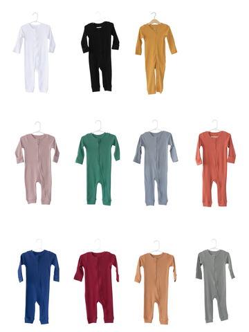 Organic Thermal Zip Coverall -  Colors
