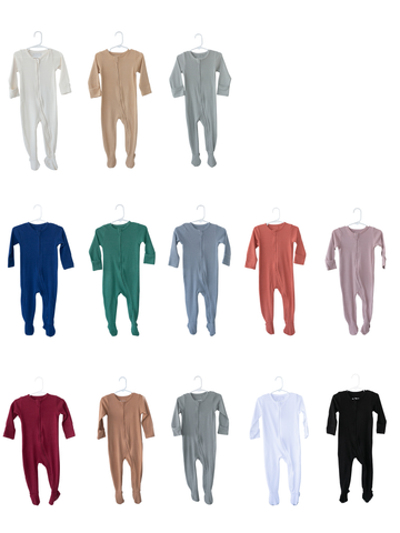 Organic Thermal Zip Footie -  Colors