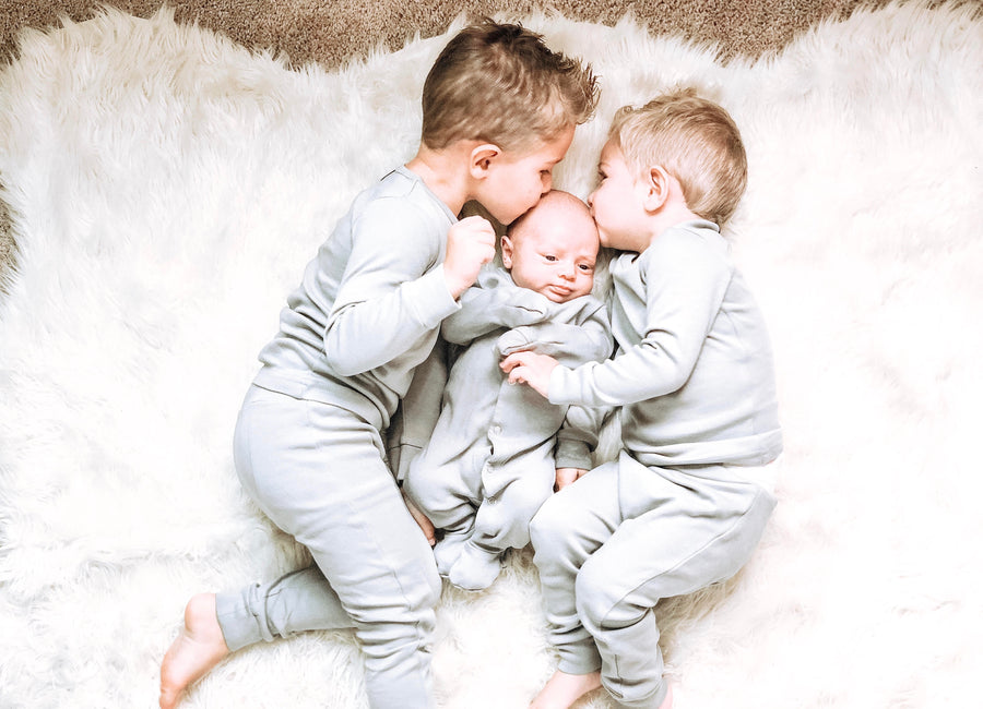 Organic Pajama Set -  SOLID COLORS