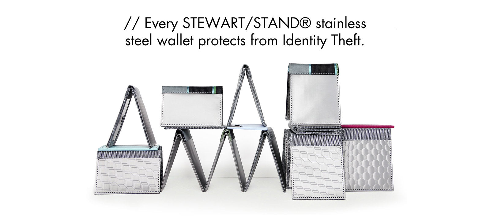 Stewart Stand RFID blocking stainless steel mens accessories