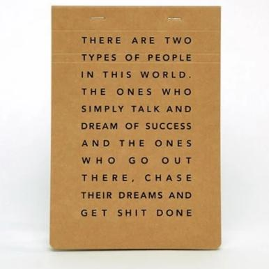 Get Shit Done, Manifesto Pocket Notepad by MiGoals