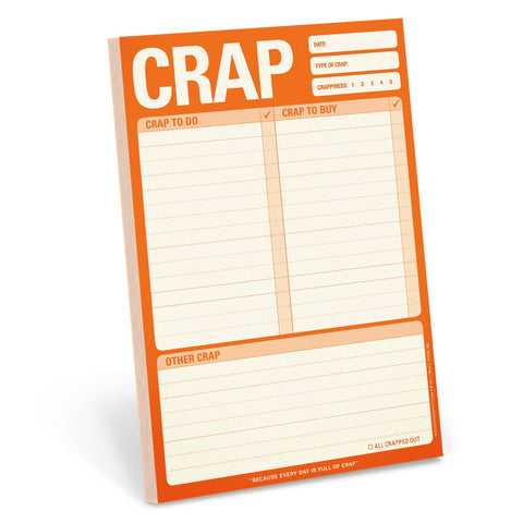 Crap Pad. Knock Knock Notepad, Well Done Goods