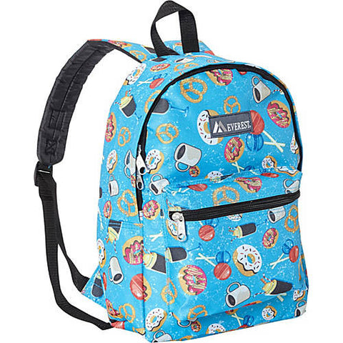 Everest Donuts and Snacks Print Blue Backpack, Well Done Goods