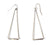 Long 3D Silver Pyramid Earrings, Well Done Goods