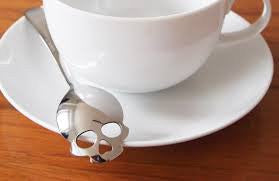 Skull Sugar Spoon by Suck UK, Halloween Gifts, Well Done Goods
