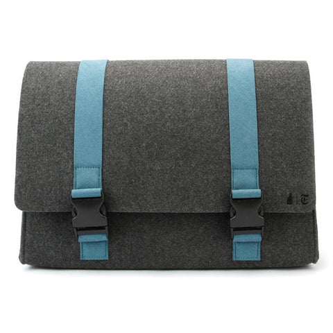 M.R.K.T. Williamsburg Messenger - Charcoal. Smrt Felt / Vegan Leather