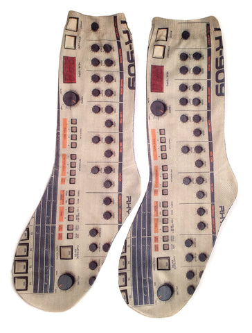 909 Drum Machine Socks, Acid House. Well Done Goods by Cyberoptix