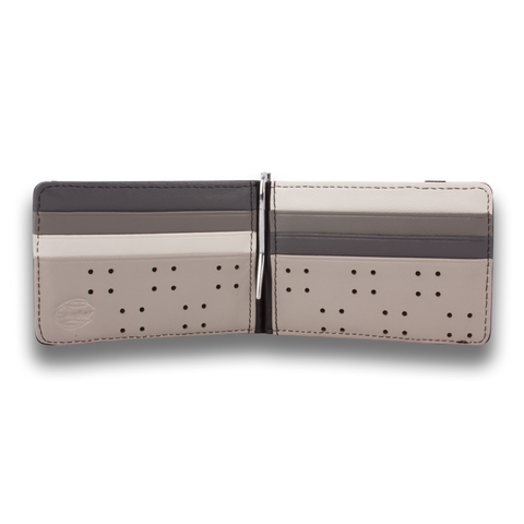 Grey Scale & Black Leather Wallet: ARMADA by Orchill