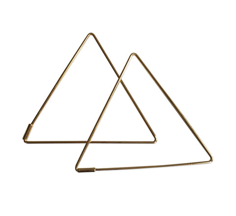 Wire Triangle Earrings