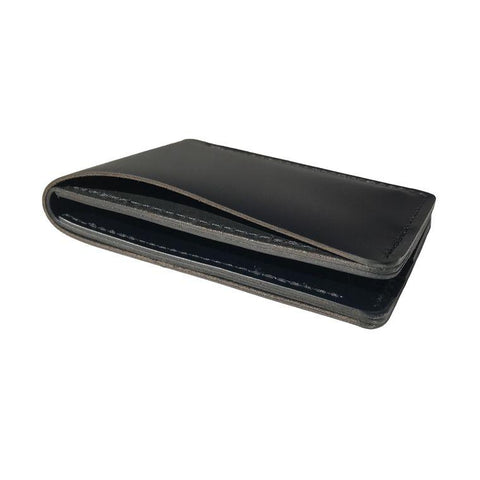Black Leather Bi-Fold / Billfold Wallet, by Hold Supply