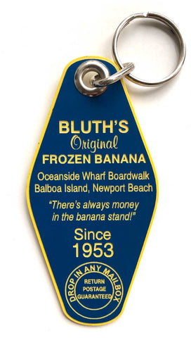 Bluth's Original Frozen Banana Keychain, Arrested Development inspired key tag. Well Done Goods