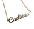 Gold Cadieux Detroit Script Nameplate Necklace, Well Done Goods by Cyberoptix