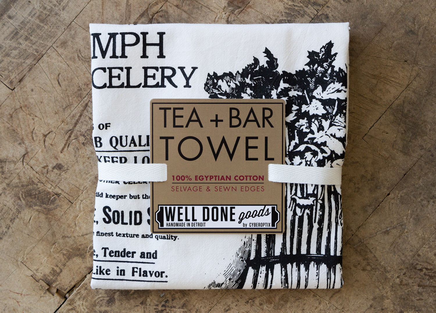 Ferry and Co  Celery Print Flour Sack Towel, Vintage Advertisement - Well  Done Goods, by Cyberoptix