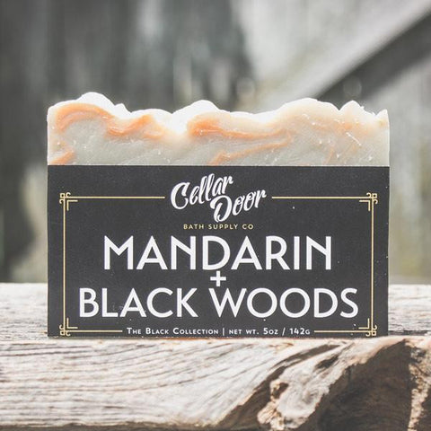 Cellar Door Bar Soap: Mandarin & Black Woods