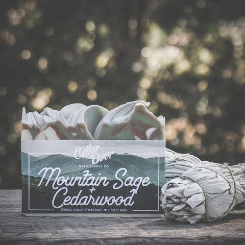 Cellar Door Bar Soap: Mountain Sage & Cedarwood