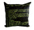 Commodore 64 Throw Pillow, black and green