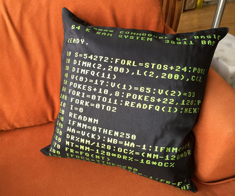 Commodore 64 Throw Pillow - Well Done Goods, by Cyberoptix