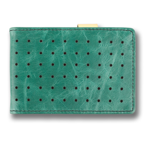 Jade Green Leather Wallet: CONCORD by Orchill, Well Done Goods