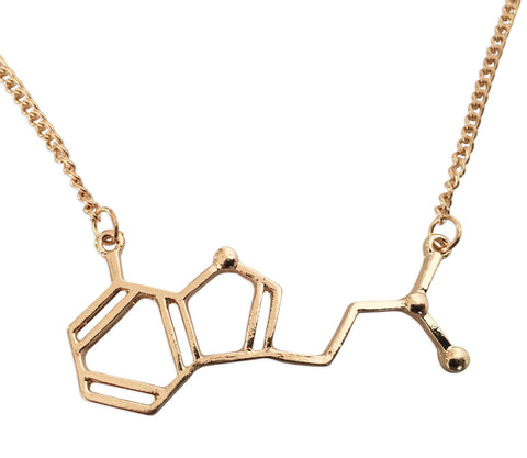 DMT Molecule Pendant Necklace, Well Done Goods