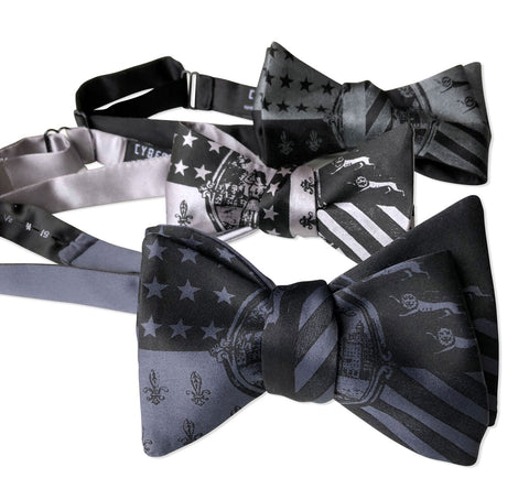 Detroit City Flag Bow Ties, 1940s Historic Flag Print. Well Done Goods