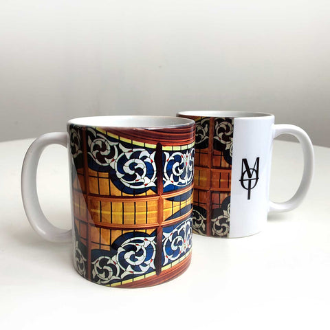 Detroit Opera House Coffee Mug, Ford Lobby Stained Glass Ceiling Coffee Cup