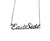 East Side Script Necklace. Silver Detroit Neighborhood Name Pendant, by Well Done Goods