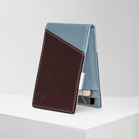 Espresso and Slate RFID Money Clip Wallet, by Forrest & Harold