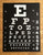 Black and white Screen Printed Eye Chart Poster