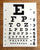 Black and white Silkscreened Eye Chart Poster