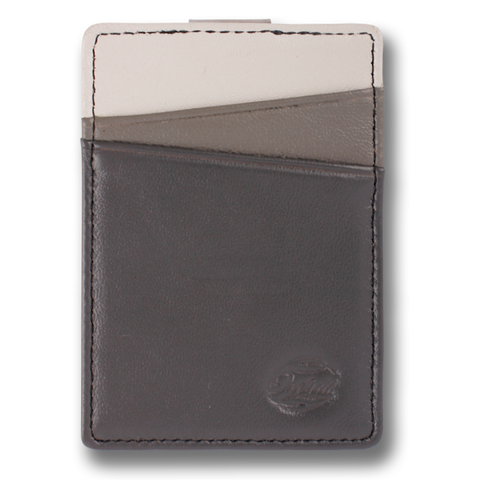 Grey Scale Leather Wallet. BOREAL Money Clip by Orchill. Well Done Goods
