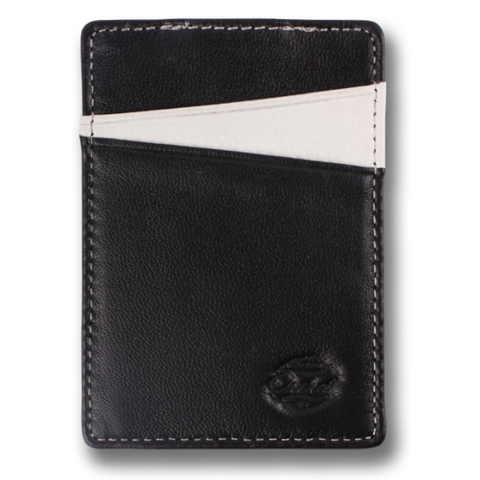 Black & White Pebble Leather Wallet. BOREAL Money Clip by Orchill. Well Done Goods