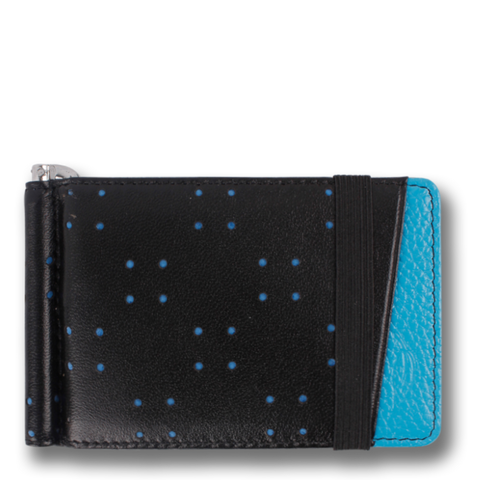 Robin's Egg Blue & Black Leather Wallet. ARMADA by Orchill