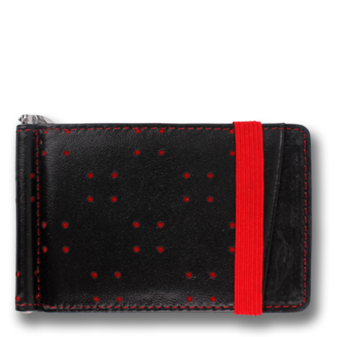 Black & Red Leather Wallet: ARMADA by Orchill