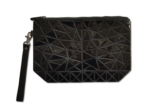 Articulated Flexible Geometric Clutch Wristlet