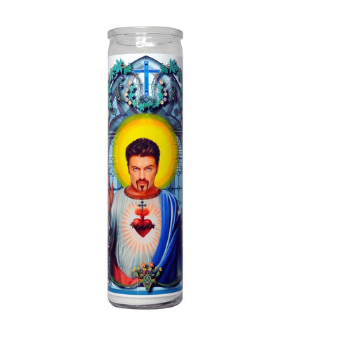 George Michael Prayer Candle. Celebrity Saint Prayer Candle, by Do Pray Tell