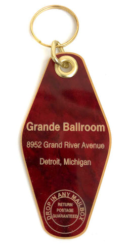 Grande Ballroom Motel Style Keychain, Well Done Goods