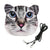 Small Cat Face Purse. Grey & White Tabby with Small Blue Eyes Bag, by Well Done Goods