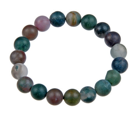 Indian Agate Stone Mala Bead Bracelet