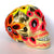 Hand Painted Ceramic Mexican Sugar Skull, pale yellow