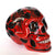 Hand Painted Ceramic Mexican Sugar Skull, red